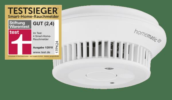 Homematic IP Безжичен детектор за дим и пожар за Smart Home